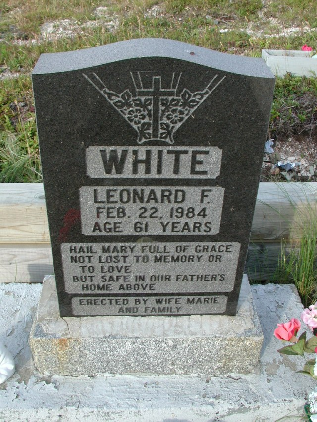 WHITE, Leonard F (1984) STM03-9453