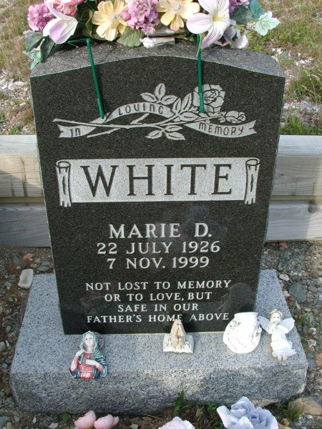 WHITE, Marie D (1999) STM03-9452