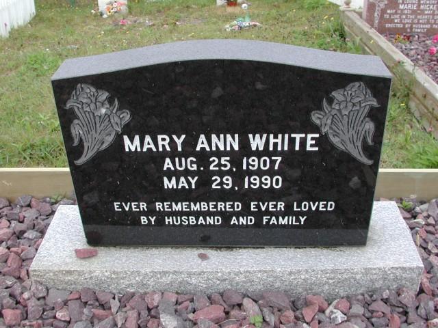 WHITE, Mary Ann (1990) ODN02-7761