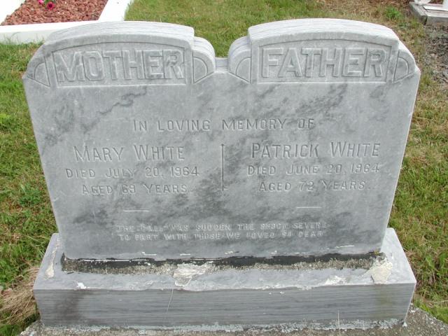 WHITE, Patrick (1964) & Mary (1964) STM01-8308
