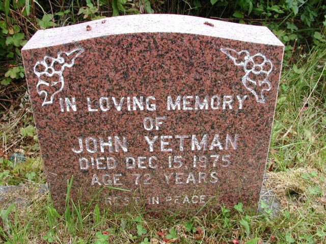 YETMAN, John (1975) STM01-8101