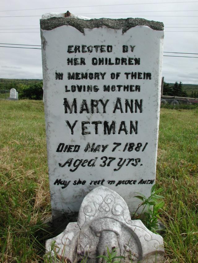 YETMAN, Mary Ann (1881) STM01-2368