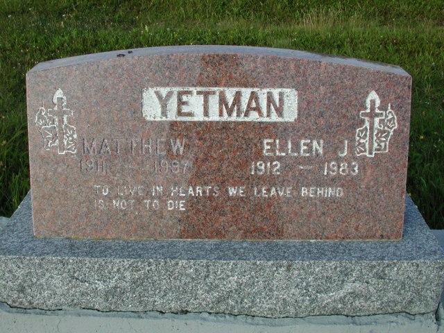 YETMAN, Matthew (1997) & Ellen J (1983) STM03-9510