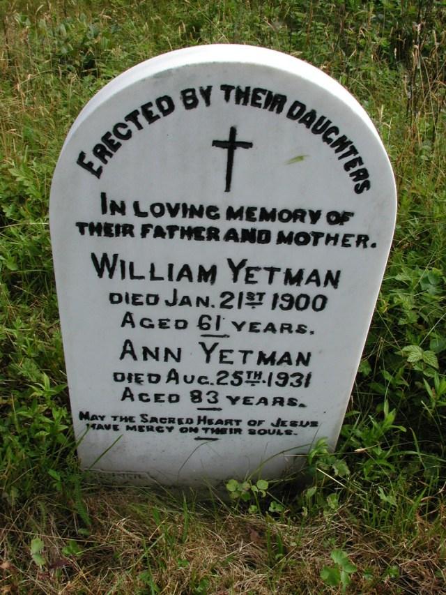 YETMAN, William (1900) & Ann (1931) STM01-8183