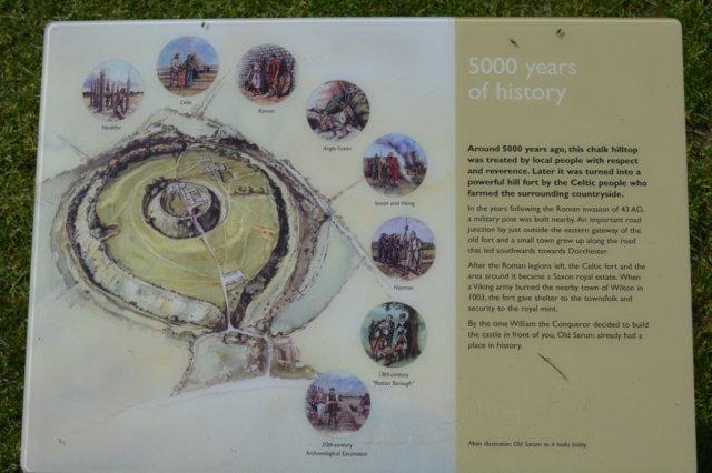 Old Sarum Castle location Wiltshire 7