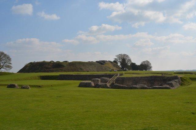 Old Sarum Castle location Wiltshire