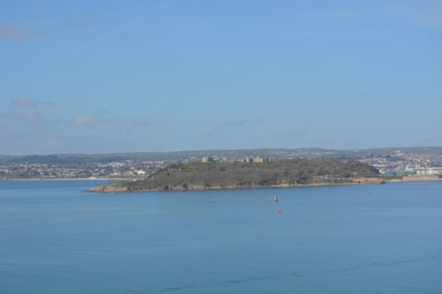 Pendennis Castle across from St. Anthony lighthouse