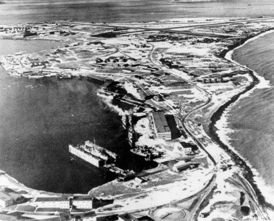 aerial view of base