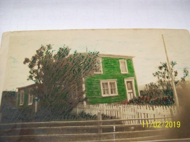 Nonie McEvoy's house in Reginaville, Colinet Island.