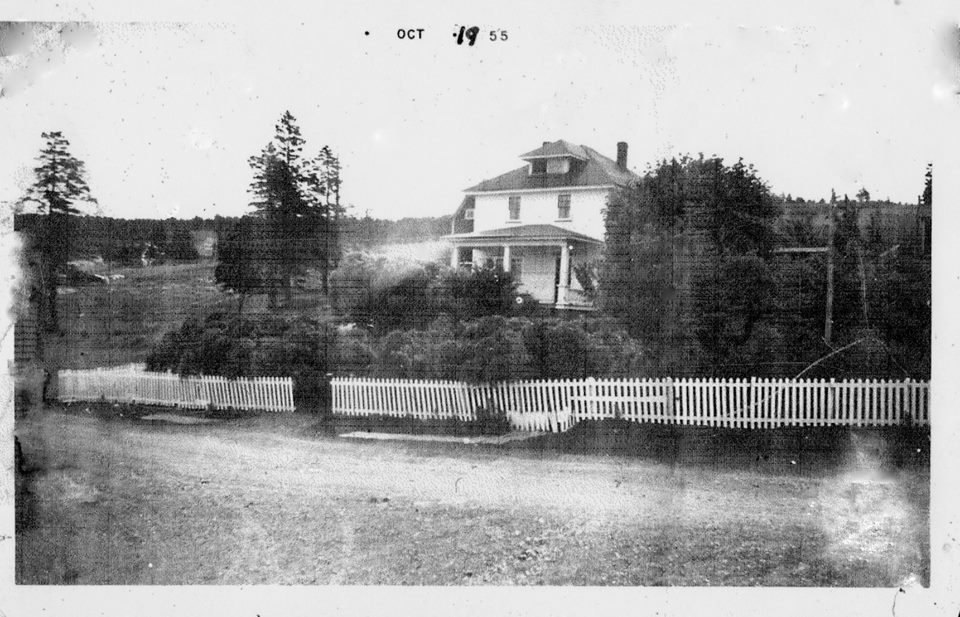 The home of Michael and Jessie Gough, this house was built in 1935. Logs were cut in the country and floated down Little Harbour River and then taken to a sawmill that was located in Fowler's Cove in Mount Carmel
