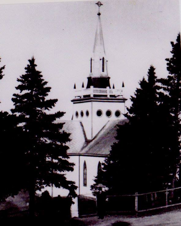 This is how the Spire looked on St.Joseph's Church when it was removed in the early 1960's