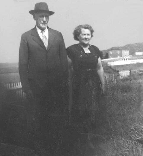 thumbnail_Mr. James Dalton and Mrs. Gertie Doody The house is Paddy Daltons The empty meadow is where Jimmy Dalton had his house Then Vince before going to the shore