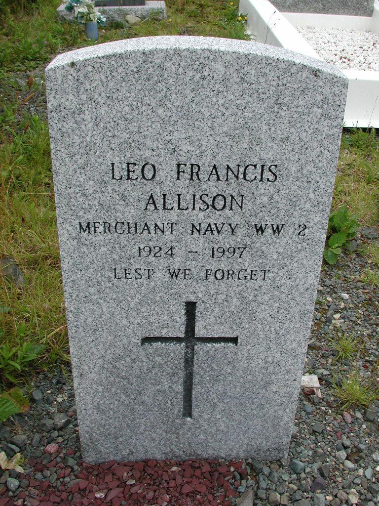 ALLISON, Leo Francis (1997) RIV01-8056