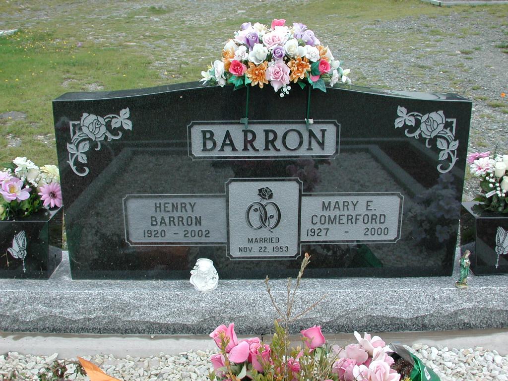 BARRON, Henry (2002) & Mary E Comerford RIV01-2219
