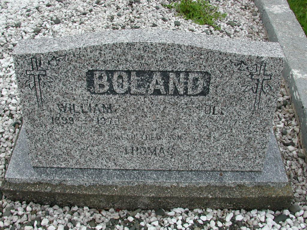 BOLAND, William (1973) & Violet (1973) & Thomas RIV01-7923