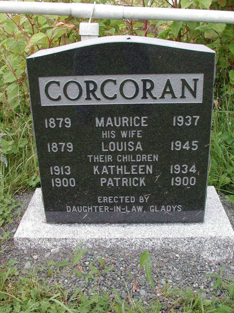 CORCORAN, Maurice (1937) & Louisa & Kathleen & P RIV01-2099