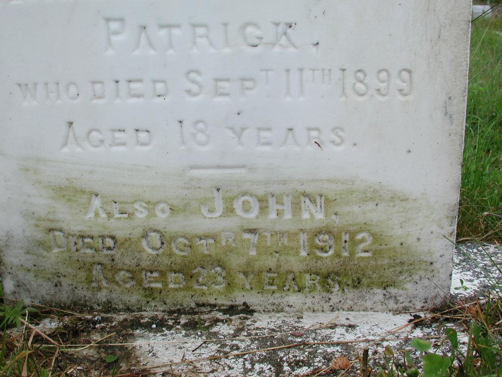 CORCORAN, Patrick (1899) & John (1912) RIV01-2110