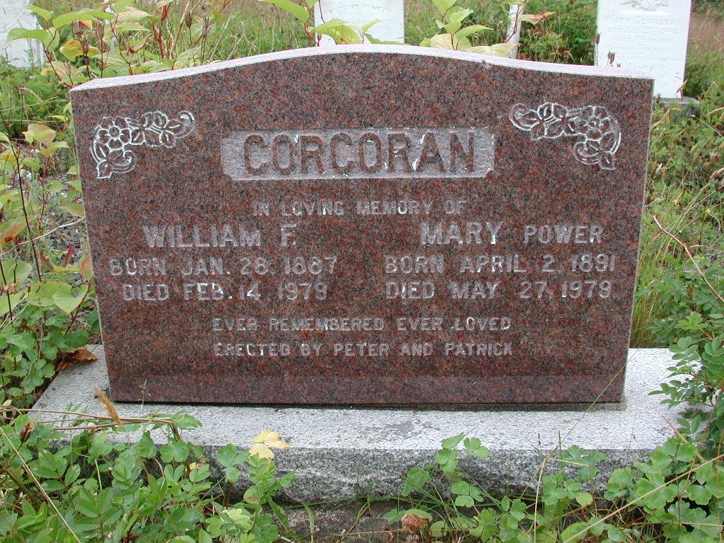 CORCORAN, William F (1979) & Mary Power (1979) RIV01-2108