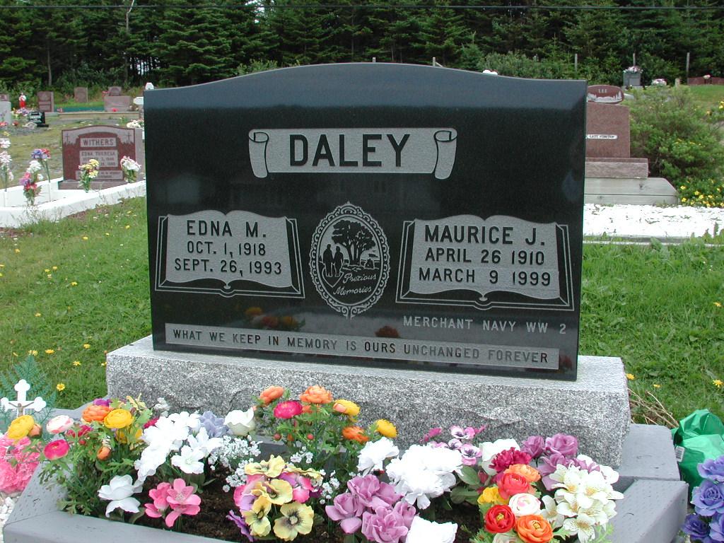 DALEY, Maurice J (1999) & Edna M (1993) RIV01-2216