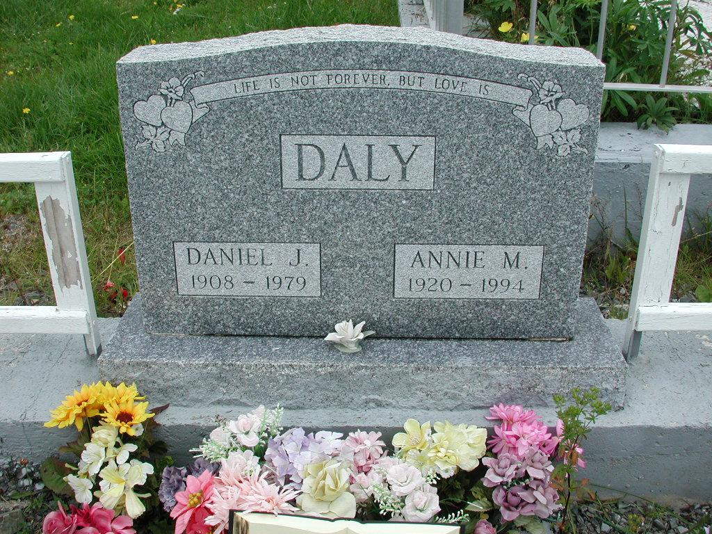 DALY, Daniel J (1979) & Annie M (1994) RIV01-2226