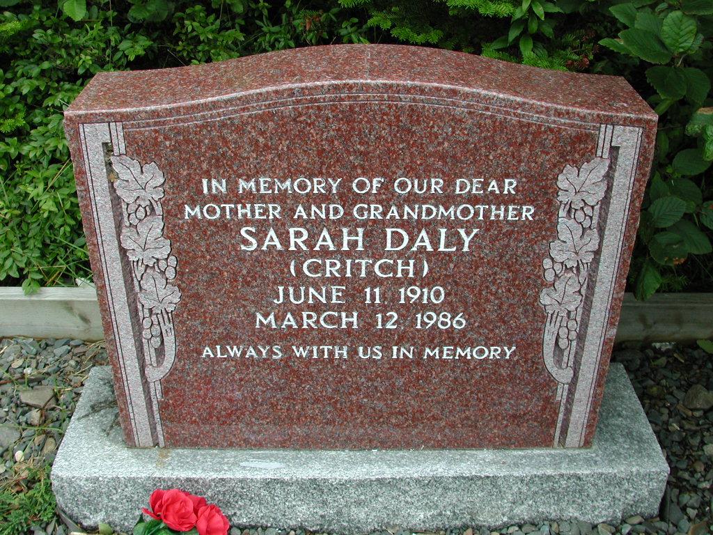 DALY, Sarah Critch (1986) RIV01-8018
