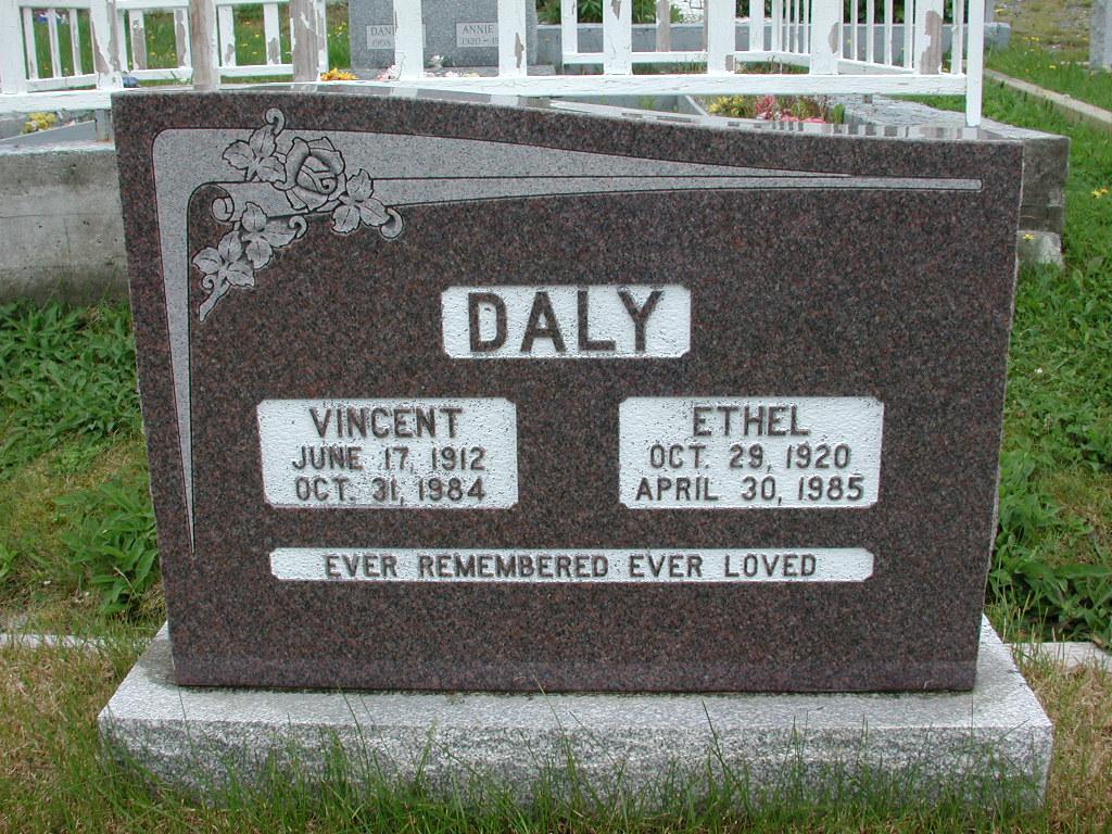 DALY, Vincent (1984) & Ethel (1985) RIV01-2212