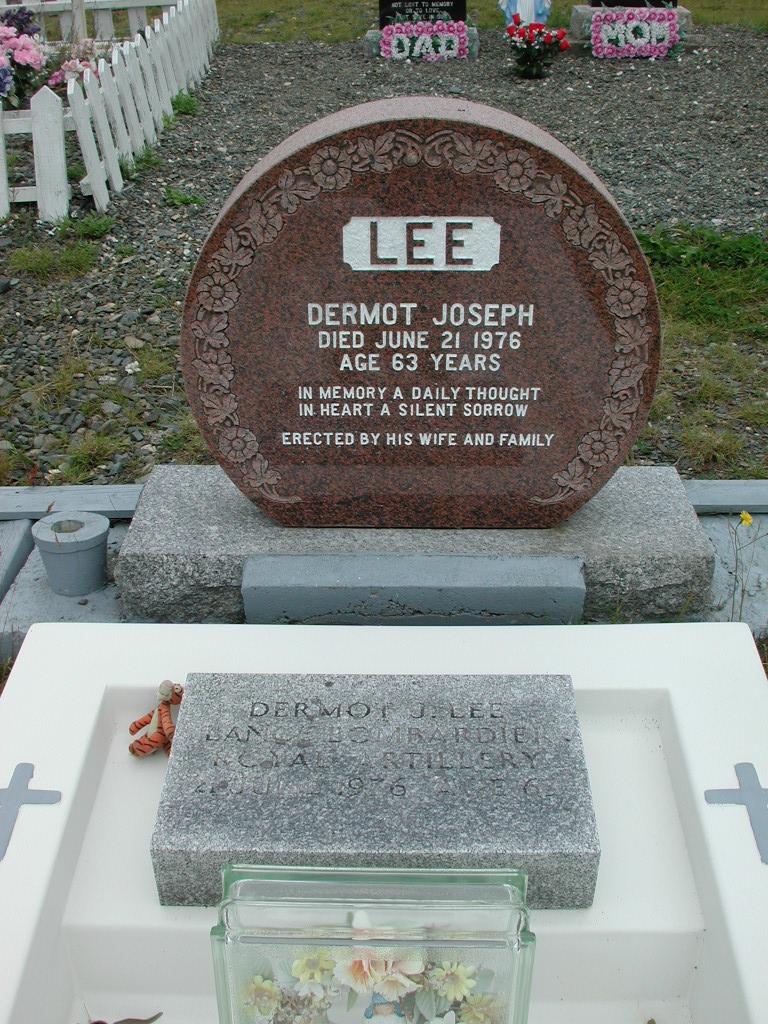 LEE, Dermot Joseph (1976) RIV01-2243