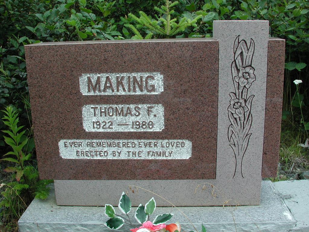 MAKING, Thomas F (1980) RIV01-2210