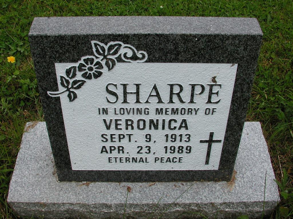 SHARPE, Veronica (1989) RIV01-7986