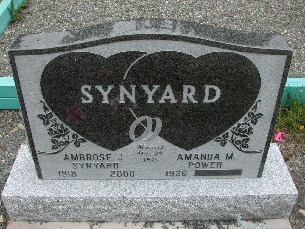 SYNYARD, Ambrose J (2000) & Amanda M Power RIV01-8044