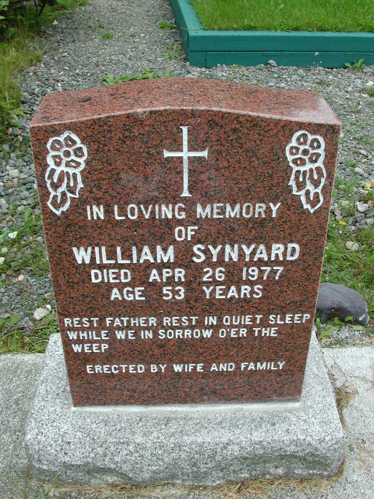 SYNYARD, William (1977) RIV01-8021