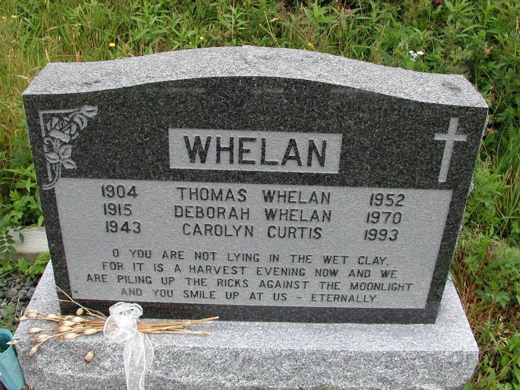 WHELAN, Thomas (1952) & Deborah & Carolyn Curtis RIV01-7867