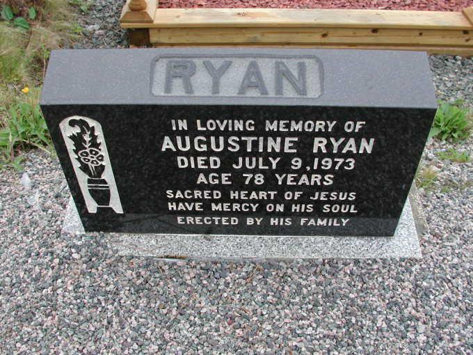 Augustine Ryan 6211 Headstone