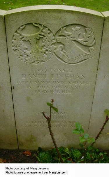 Daniel Linehan # 1468 Headstone