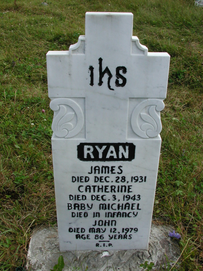 John Ryan 6254 Headstone and others