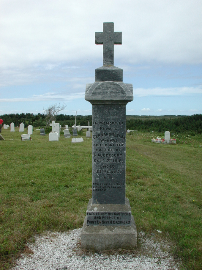 Bernard Meehan headstone to honor WW1