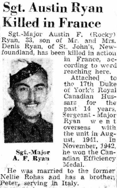 Obituary Newspaper Article